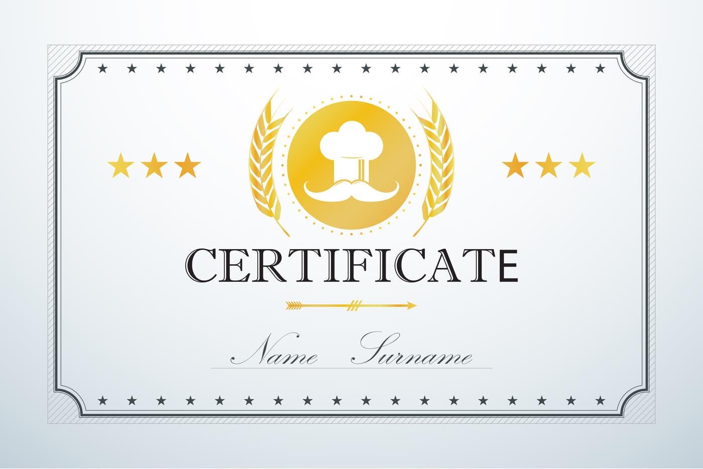 Chef certificate