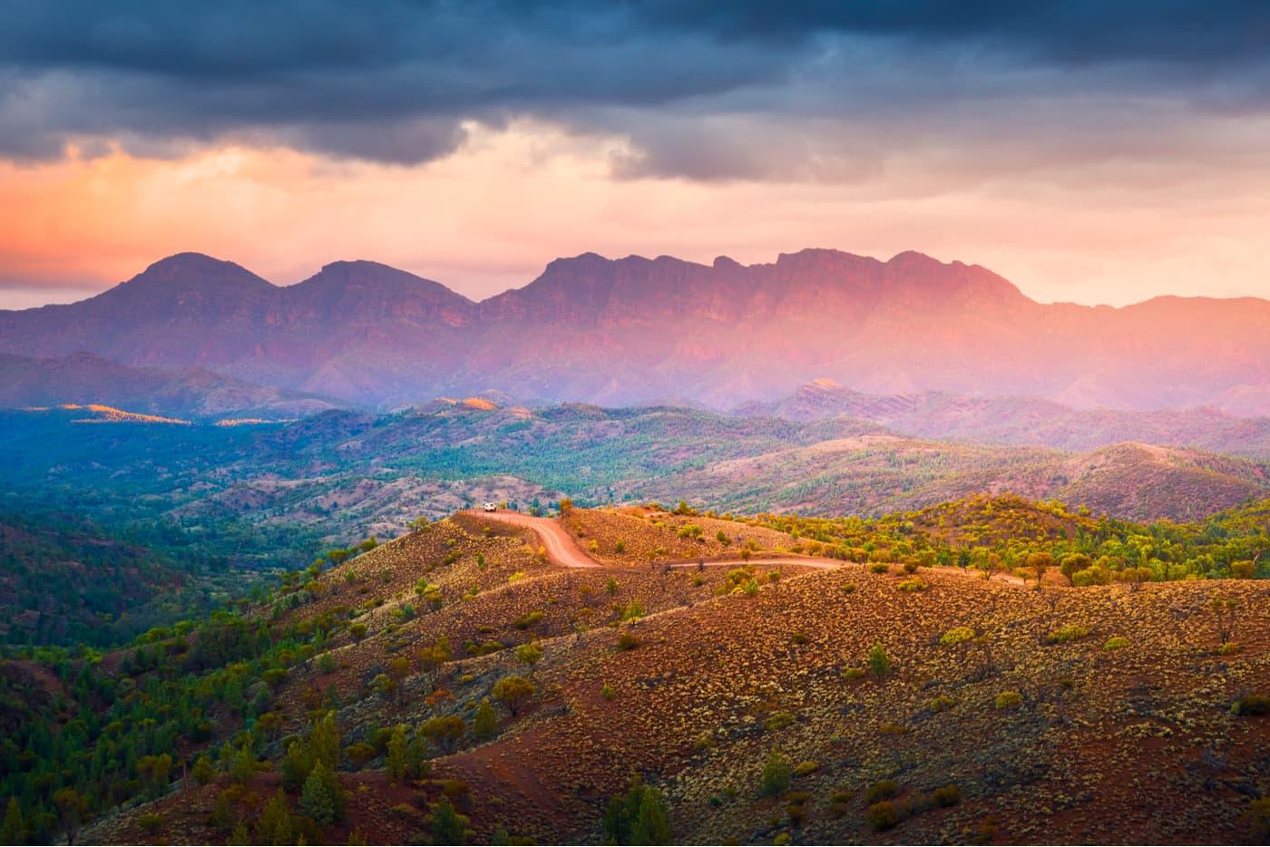 Flinders Ranges landscape in South Australia