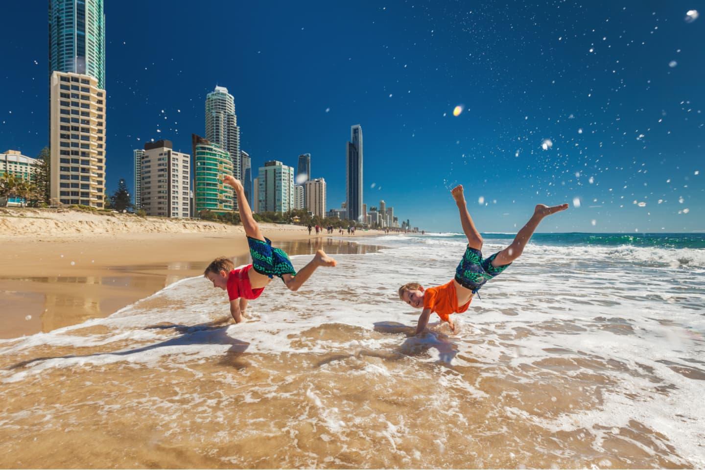 Two happy boys in Gold Coast Australia